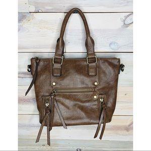 Dark Brown Faux Leather Purse